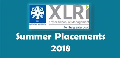 Kj Somaiya Mba Average Package by Xlri Summer Placements 2018 Highest Stipend Of Rs 5 Lakhs