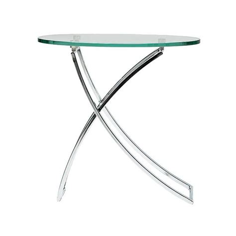 swing side table modern glass side table accent table living room