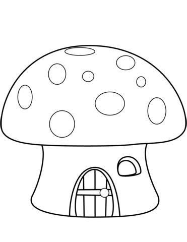 mushroom house coloring page  printable coloring pages