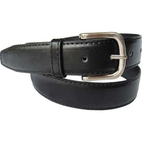 black stitched dress belt genuine leather beltbuckle