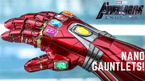 hot toys iron man nano gauntlet avengers endgame