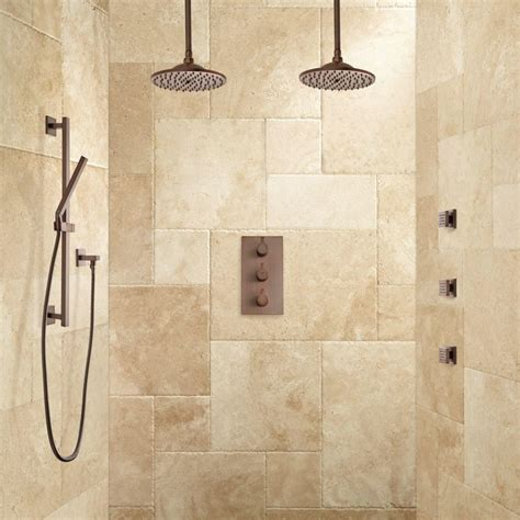 labelle thermostatic dual shower system hand shower and