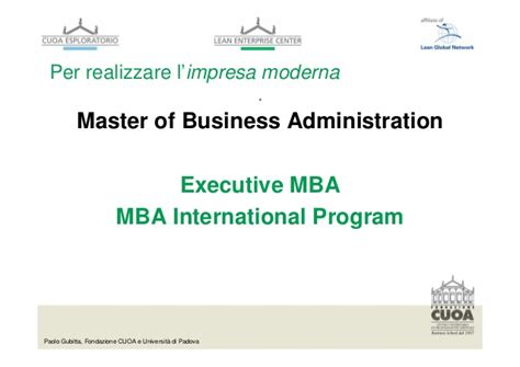 Iowa Executive Mba Program by Ruoli Imprenditoriali E Manageriali Nell Impresa Moderna