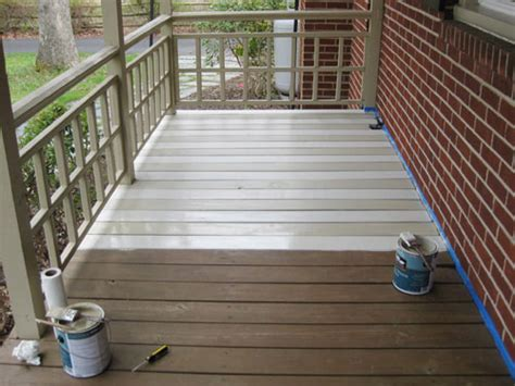 how to paint a wood deck or front porch we did subtle