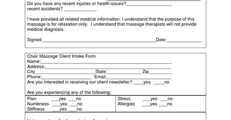 Massage Client Intake Form Template Neuromuscular Therapy Pinterest Massage And Templates Hypnosis Intake Form Template
