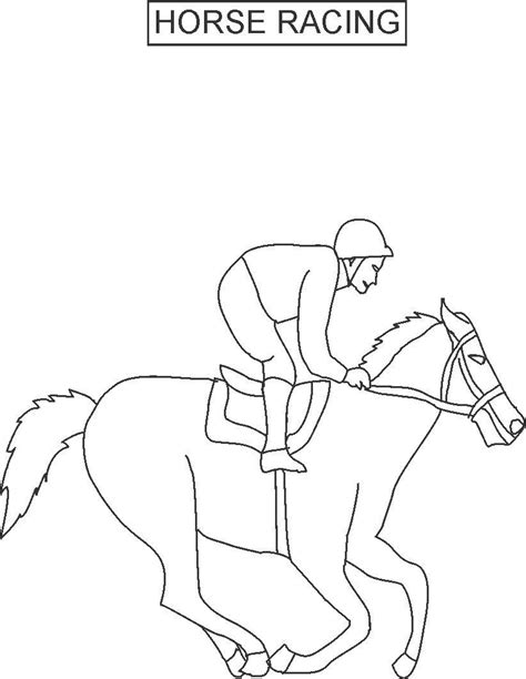 coloring pages of race horses free coloring pages of winning cup