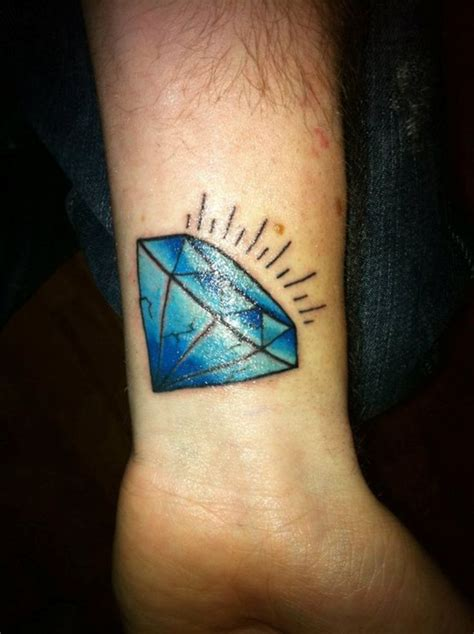 diamond tattoo wrist 35 best blue tattoos images on blue