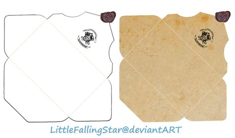 Harry Potter Acceptance Letter Envelope Template Hogwarts Envelope By Littlefallingstar On Deviantart