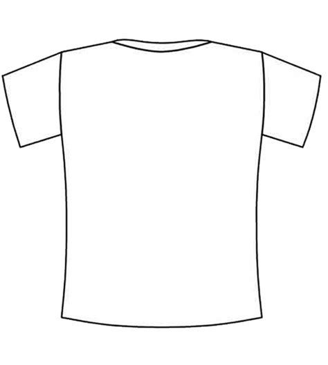 blank tshirt template free coloring pages of blank shirt