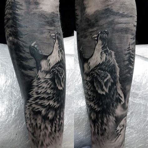 3d wolf tattoo 100 forest designs for masculine tree ink