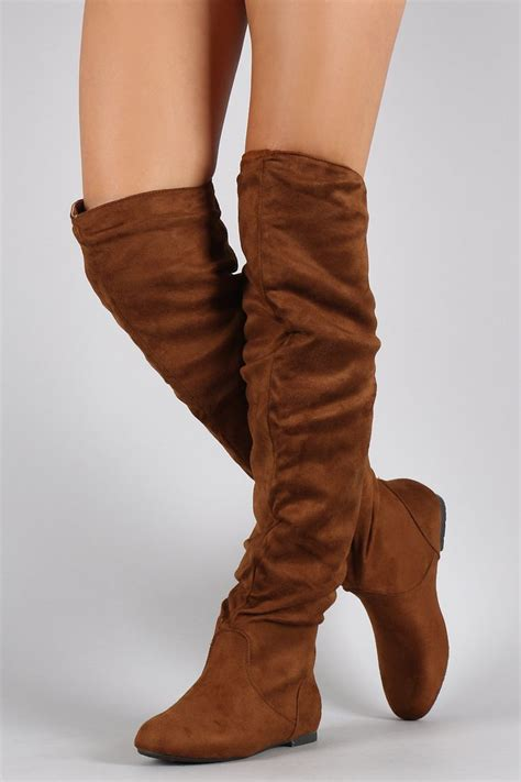 thigh high slippers suede slouchy thigh high flat boot high boots