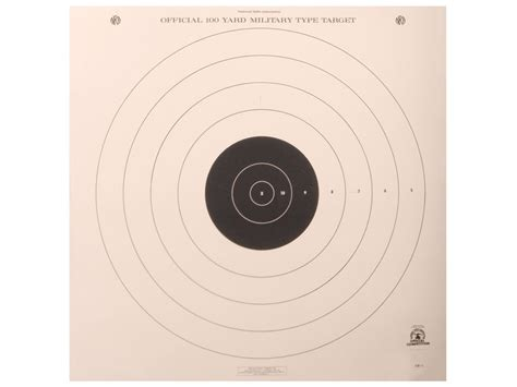 printable high power rifle targets nra official high power rifle targets sr 1 100 yard slow