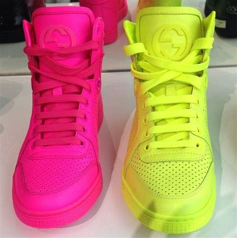 neon gucci sneakers gucci neon pink pink boots casual shoes and