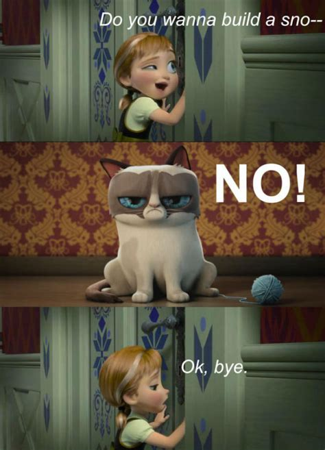 Do You Want To Build A Snowman Meme - frozen featuring grumpy cat meme weknowmemes