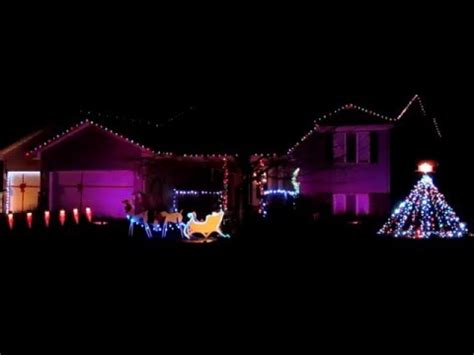 quot nightmare before christmas quot light show youtube