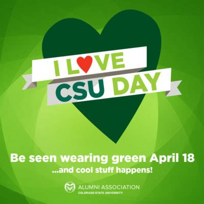 Social Sustainable Mba Csu by Wear Green Get Some On I Csu Day Source