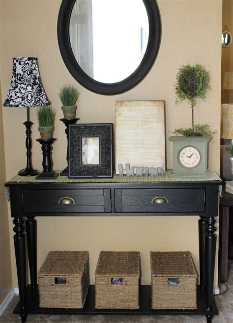 Entryway Table Decor Ideas the walkers entryway table dilemma
