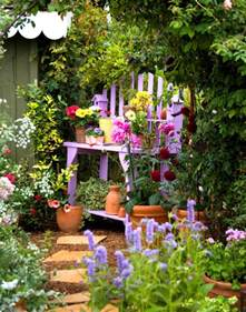 Small Cottage Gardens - hydrangea hill cottage cottage garden benches