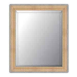bed bath and beyond bathroom mirrors elsa l beveled wall mirror in natural pewter bed bath beyond