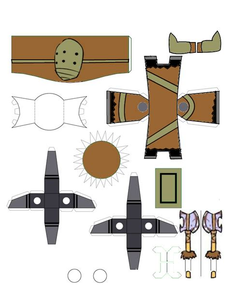 Castle Crashers Papercraft - castle crashers barbarian template by ludabo98 on deviantart