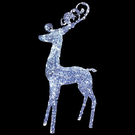 led outdoor reindeer national tree company 60 in reindeer decoration with led lights df 210001c the home depot
