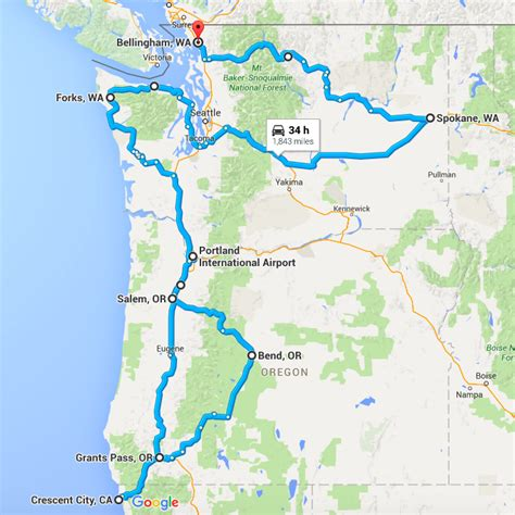 pacific northwest map usa phase 3 motherofallroadtrips pacific northwest usa