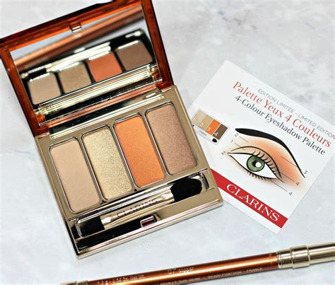 Review Eyeshadow Inez 05 clarins summer 2017 makeup collection limited edition 4 colour eyeshadow palette review photos