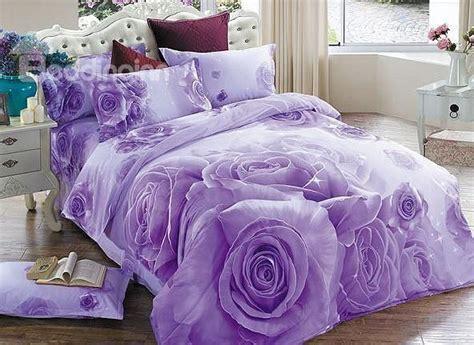 purple comforters on sale brilliant purple rose print 4 piece cotton duvet cover
