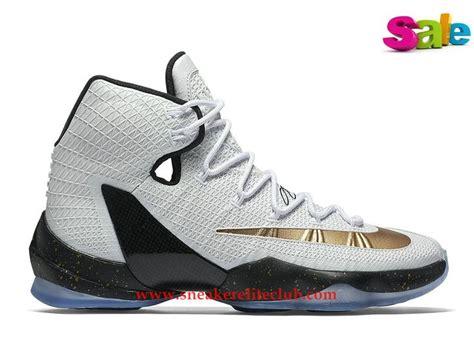 Sepatu Basket Nike Lebron 13 Elite chaussures basket pas cher nike lebron 13 elite prix pour homme gold black 831923 170 lebron