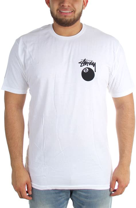 T Shirts Stussy 8ball Putih 1 stussy mens 8 t shirt