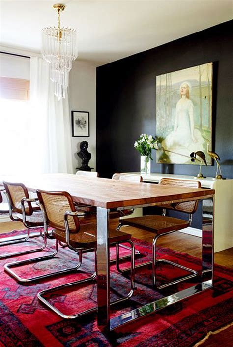 Dining Room With Black Accent Wall Favorite Spaces A Relaxed Dining Room Contrast Inspiration