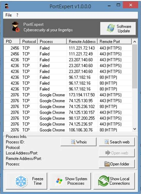 udp port portexpert monitor tcp udp connections on windows