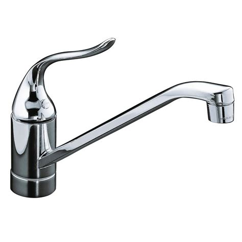 kitchen faucets for less kohler coralais single handle standard kitchen faucet with less escutcheon in polished chrome k