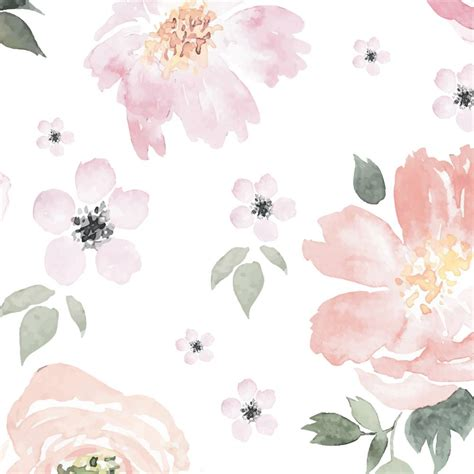 Floral In Pink anewall pretty in pink modern classic pastel floral