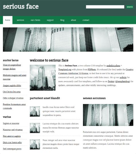 template css free 10 free css themes templates free premium templates