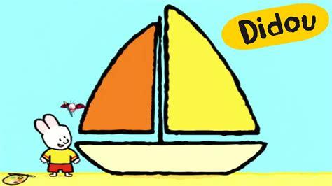 how to draw a nice boat bateau didou dessine moi un bateau dessins anim 233 s pour
