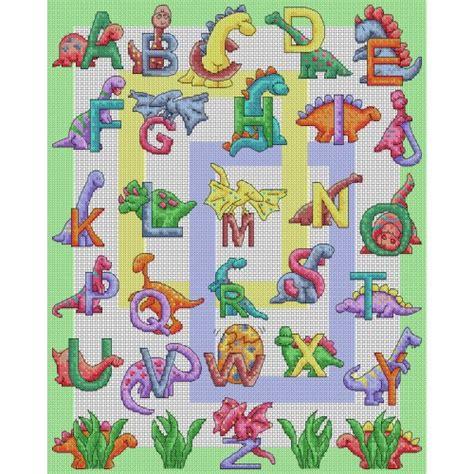 printable dinosaur alphabet dinosaur abc cross stitch pattern lucie heaton cross