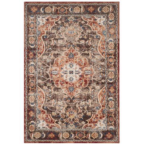 7 X 9 Area Rugs Safavieh Artisan Rust 6 Ft 7 In X 9 Ft Area Rug Atn326n 6 The Home Depot