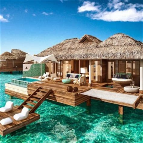 Vacations For Newlyweds Sandals To Open Overwater Bungalow Suites In Jamaica