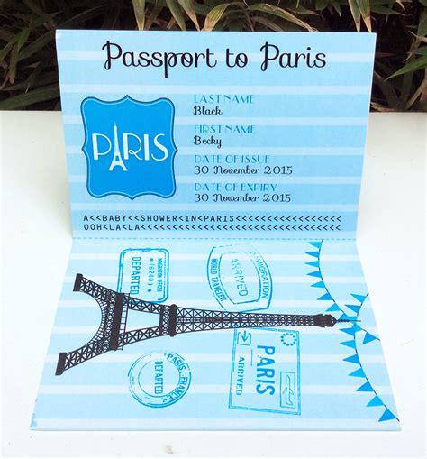 passport graduation announcement diy printable template paris baby shower theme printables simonemadeit com
