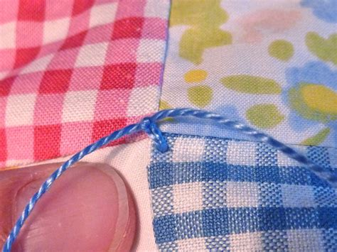 Quilt Tying Methods by Valley Tying A Quilt Tutorial