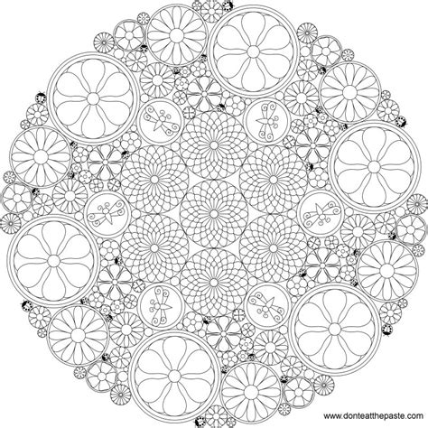 mandala coloring pages of flowers don t eat the paste really intricate flower mandala to color