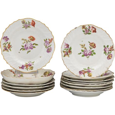 Vienna Bowl Set Dusdusan beautiful royal vienna dish set of 13 plates and large bowl from from courtlandjewels on ruby