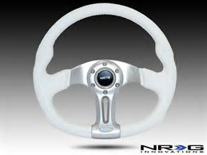 White Steering Wheel For Sale Nrg 350mm Sport White Leather With White Stitching