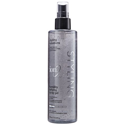 Shoo Zinc 340ml discontinued and hair care products ion humidity defying spray gel ion at home