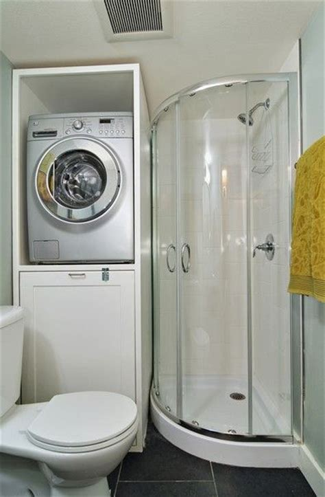small bathroom design storage   washer  dryer