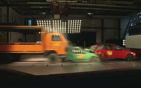 car crash test adac multi car crash test asks for mandatory eba