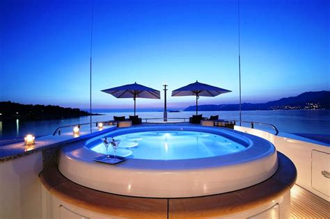 Hotels With Whirlpool Bathtubs Motor Yacht Amnesia Jacuzzi At Night Superyachts News