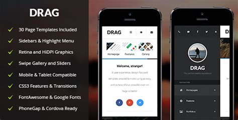 themeforest webby mobile and tablet responsive themeforest drag v1 0 mobile tablet responsive