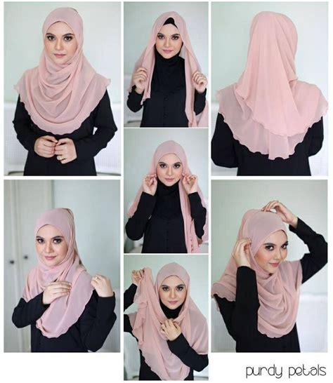 tutorial halfmoon qaira hijab halfmoon hijab tutorial sweet hijab tutorial